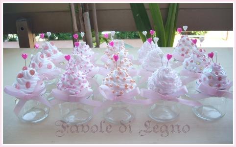 Barattolini Cupcake rosa per Bianca (1) con firma