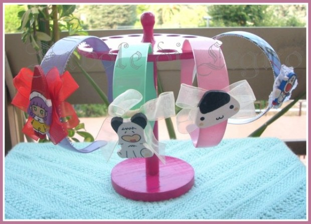 Espositore cerchietti mini rosa (2)